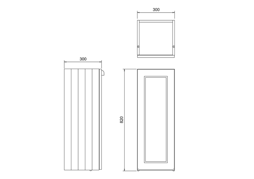 Burlington Single Door Base Unit 30 x 82h x 30cm