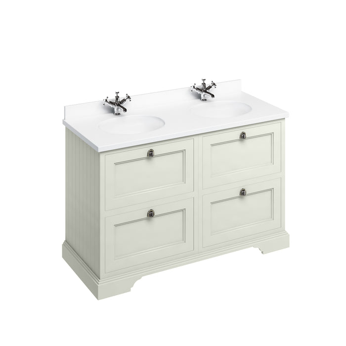 Burlington 130cm Vanity Unit with 4 Drawers and Worktop