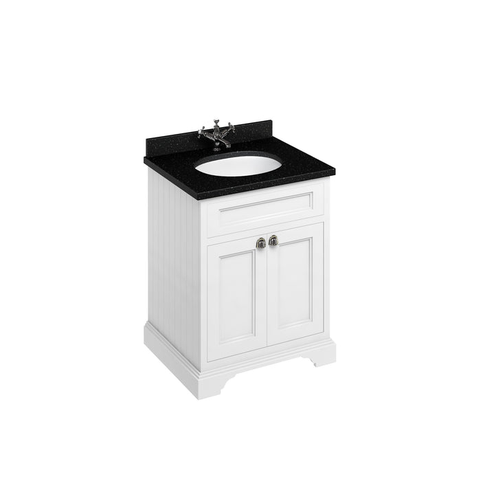 Burlington 65cm Vanity Unit with 2 Doors and Worktop