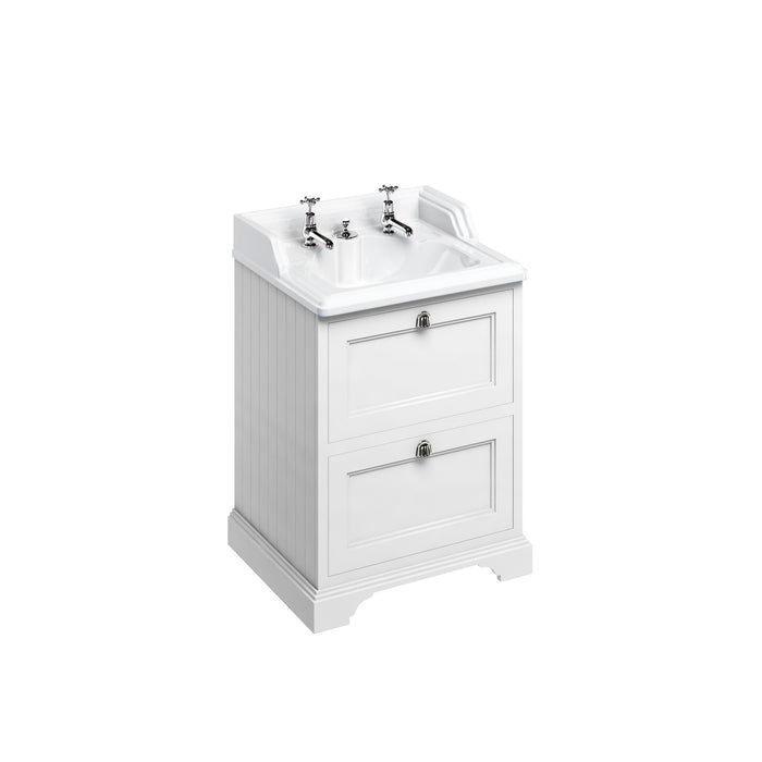 Burlington 65cm Vanity Unit with 2 Drawers and Classic Basin