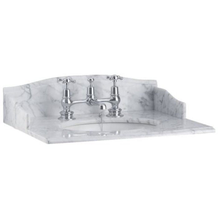 Burlington Carrara Marble Countertop Basin 65 x 57.5cm