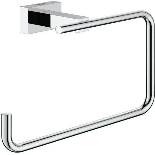Grohe Essentials Cube Wall Mounted Towel Ring - Chrome