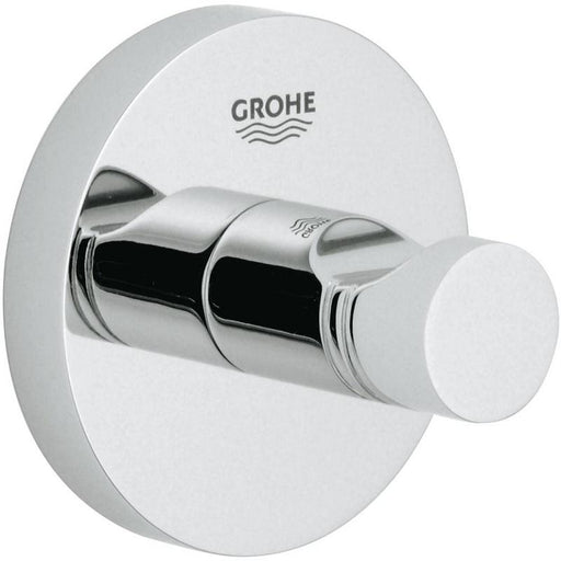 Grohe Essentials Wall Mounted Single Robe Hook - Chrome