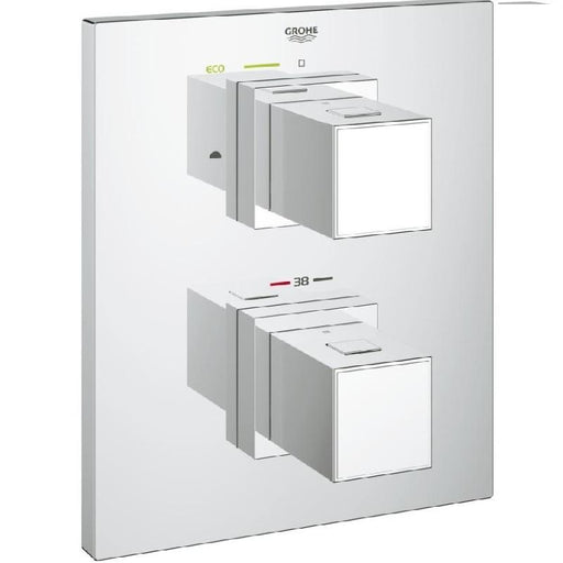 Grohe Grohtherm Cube Bath Thermostat with Integrated Diverter - Chrome