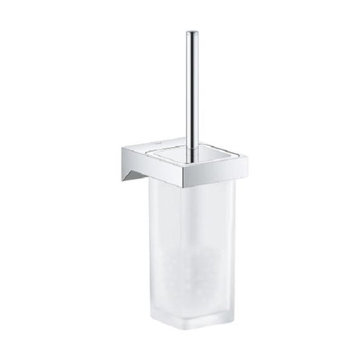 Grohe Selection Cube Toilet Brush Set - Chrome