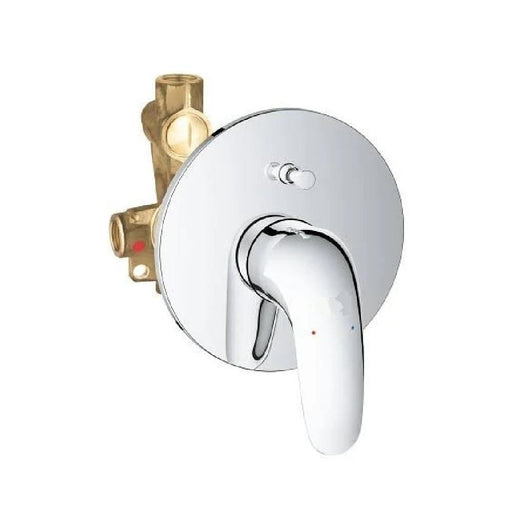 Grohe Eurostyle Concealed Single Lever Solid Bath Shower Mixer Valve - Chrome