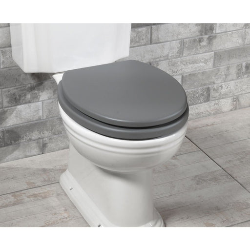 Silverdale Wooden Toilet Seat for Back To Wall Toilet