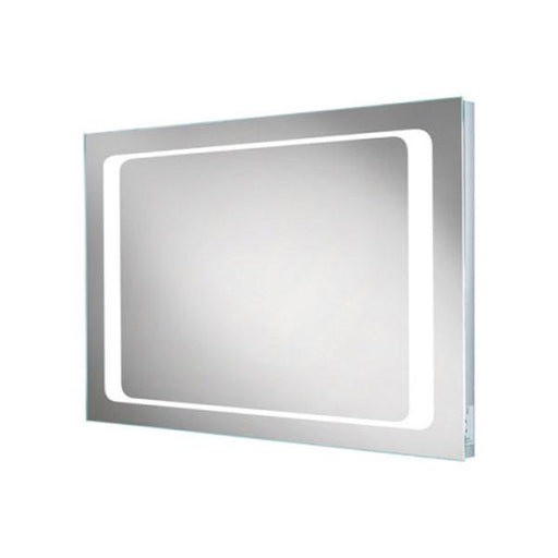 HiB Axis Illuminated Rectangular Wall Mounting LED Bathroom Mirror  - Silver