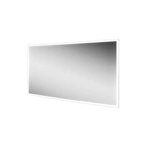 HiB Globe Illuminated Rectangular Wall Mounting LED Bathroom Mirror  - Silver