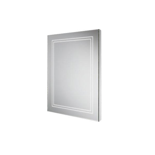 HiB Outline Illuminated Rectangular Wall Mounting LED Bathroom Mirror  - Silver