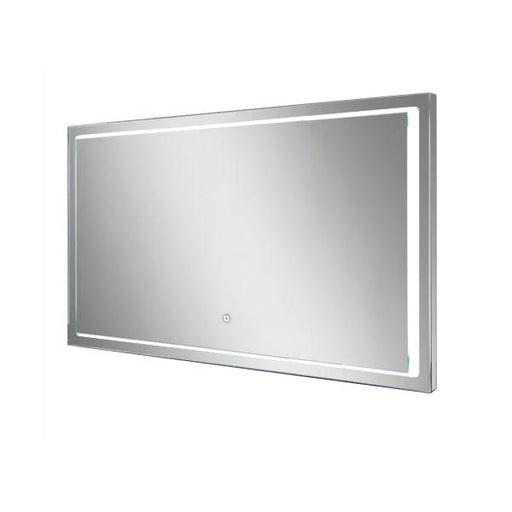 HiB Spectre Illuminated Rectangular Wall Mounting LED Bathroom Mirror  - Silver