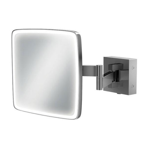 HiB Eclipse Square Magnifying Bathroom Mirror  - Chrome