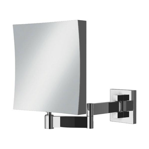 HiB Helix Square Magnifying Bathroom Mirror  - Chrome