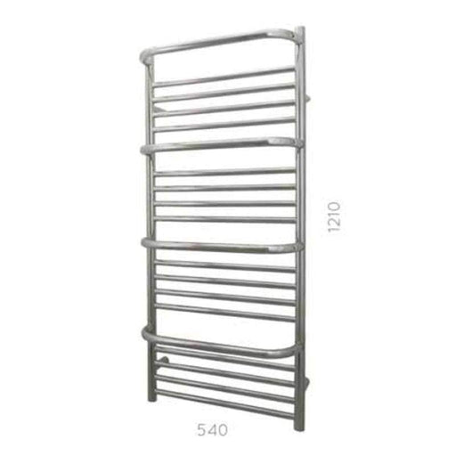 JIS Findon  Heated Towel Rail - 1210mm x 540mm - Stainless Steel