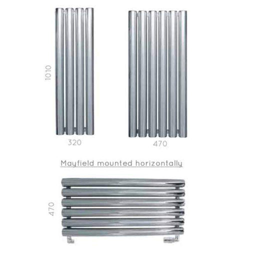 JIS Mayfield Range Heated Towel Rail - Stainless Steel