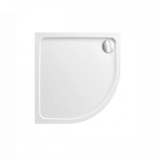 Just Trays Fusion Quadrant Shower Tray With Waste - 1000mm x 1000mm - White