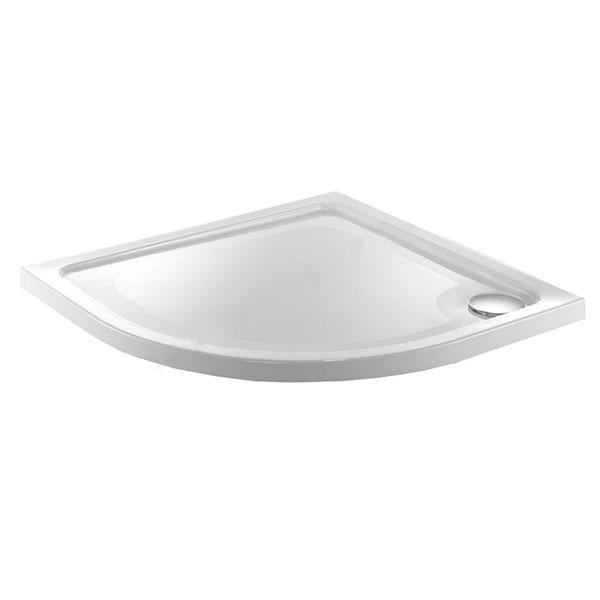 Just Trays Fusion Anti-Slip Quadrant Shower Tray With Waste - 1000mm x 1000mm - White