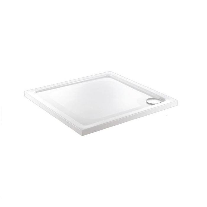 Just Trays Fusion Flat Top Anti-Slip Square Shower Tray with Waste - 900mm x 900mm - White