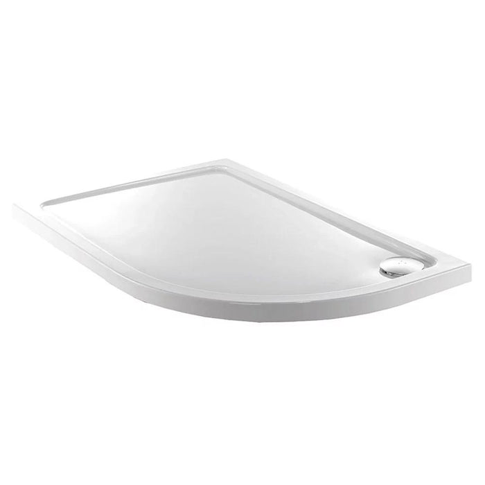 Just Trays Fusion Offset Quadrant Shower Tray - White