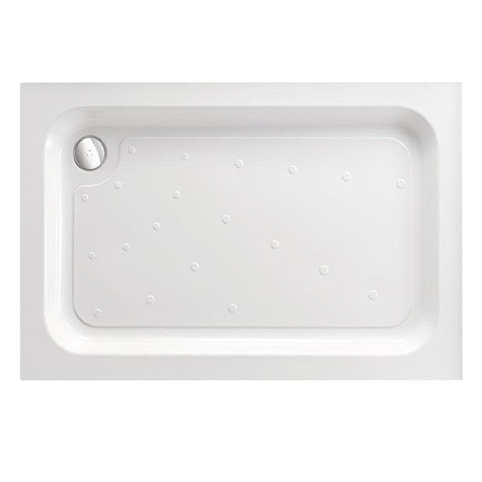 Just Trays Merlin Flat Top Rectangular Shower Tray - White