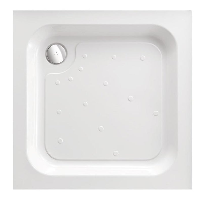 Just Trays Merlin Flat Top Square Shower Tray - White