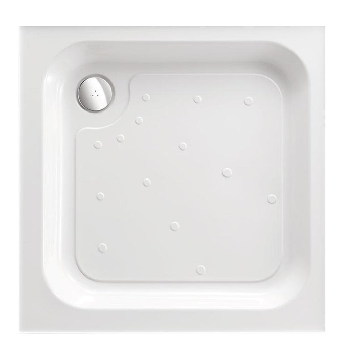 Just Trays Merlin Square Shower Tray With 4 Upstand - White