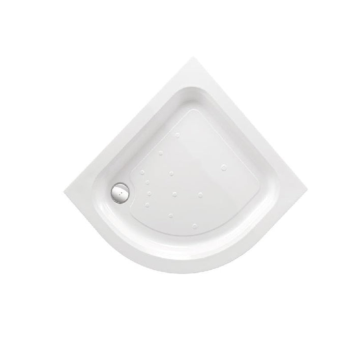 Just Trays Merlin Anti-Slip Quadrant Shower Tray With Two Upstands - White