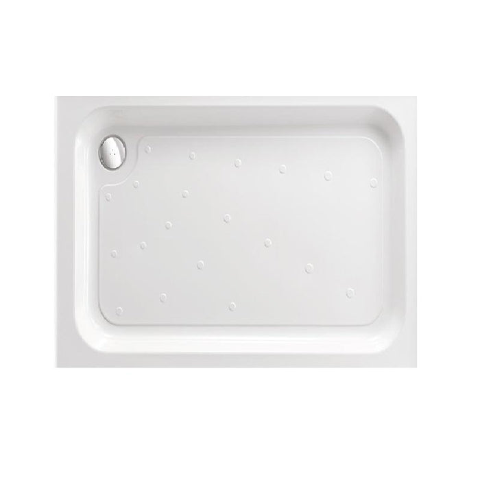 Just Trays Merlin Anti-Slip Rectangular Shower Tray With 4 Upstands - White