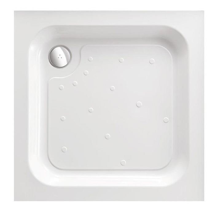 Just Trays Ultracast Flat Top Anti-Slip Square Shower Tray - 1000mm X 1000mm - White