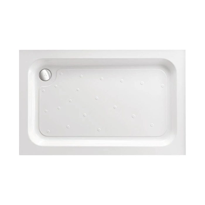 Just Trays Ultracast Anti-Slip Rectangular Shower Tray - White