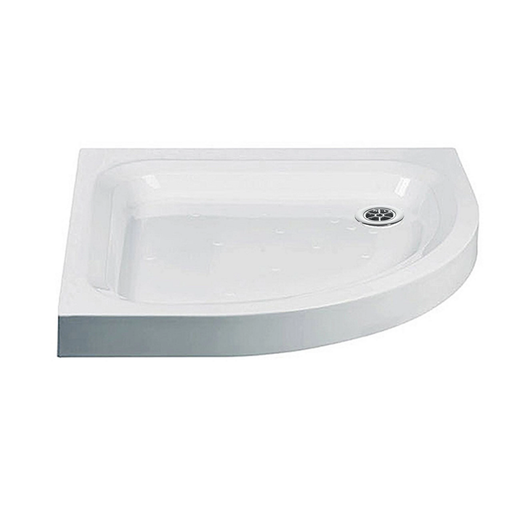 Just Trays Ultracast Anti-Slip Quadrant Shower Tray With 2 Upstands - White