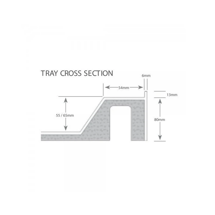 Just Trays Fusion Flat Top Anti-Slip Square Shower Tray with Waste And 4 Upstand - 900mm x 900mm - White