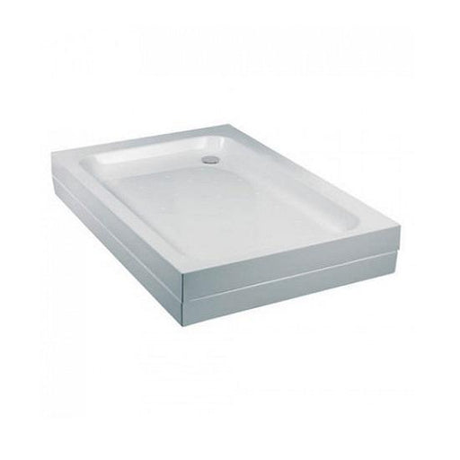 Just Trays Fusion Offset Quadrant Shower Tray with Waste - White