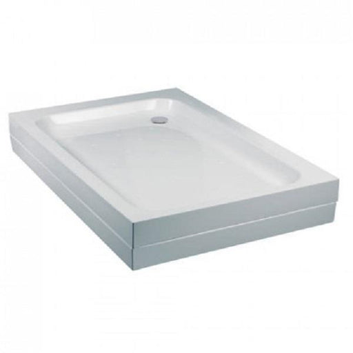 Just Trays Fusion Flat Top Anti-Slip Offset Quadrant Shower Tray with Waste - White