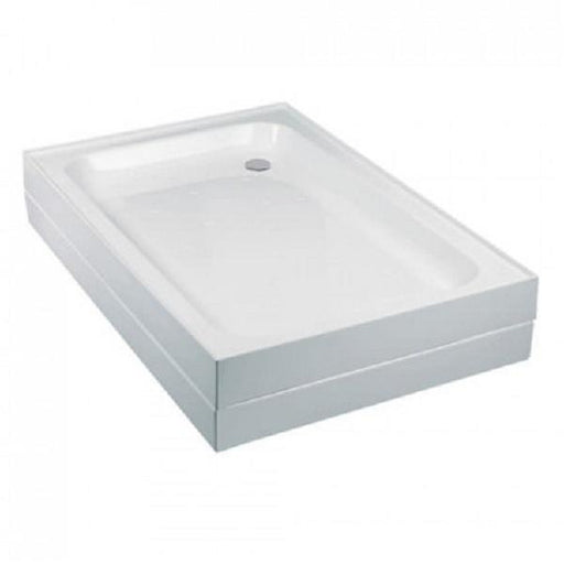 Just Trays Fusion Anti-Slip Offset Quadrant Shower Tray with Waste - Flat Top - White