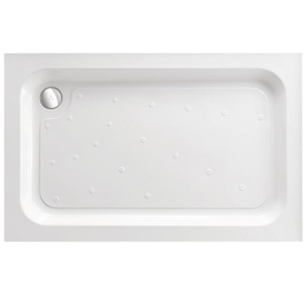 Just Trays Fusion Square Shower Tray with Waste And 4 Upstand - 900mm x 900mm - White