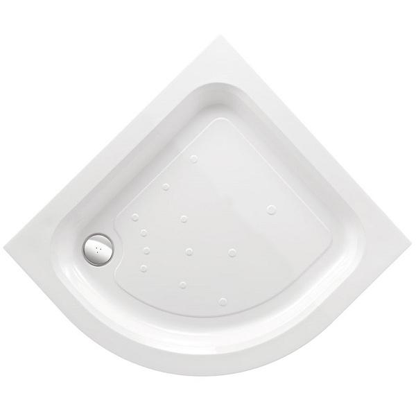 Just Trays Fusion Flat Top Quadrant Shower Tray Riser Kit 1 - White