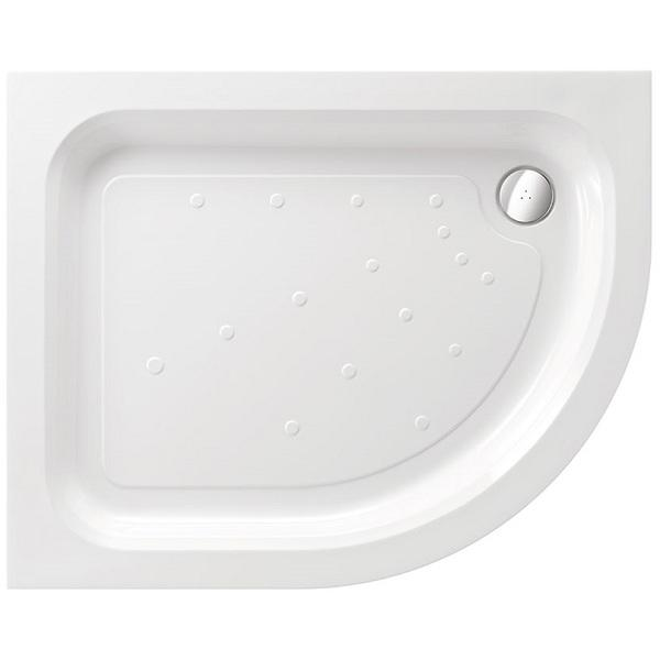 Just Trays Merlin Quadrant Shower Tray With 2 Upstand - White