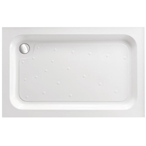 Just Trays Merlin Rectangular Shower Tray With 4 Upstands - White