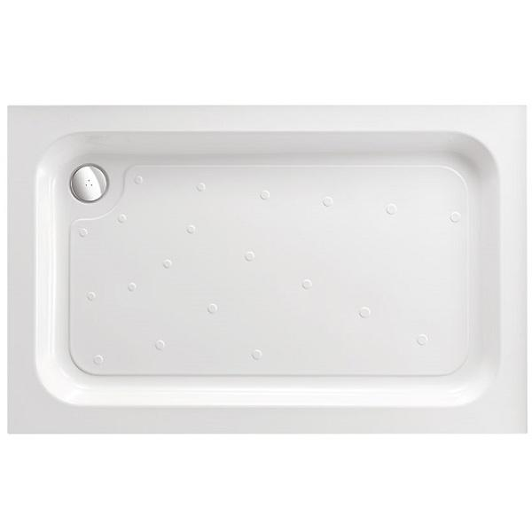 Just Trays Merlin Anti-Slip Offset Quadrant Shower Tray - White
