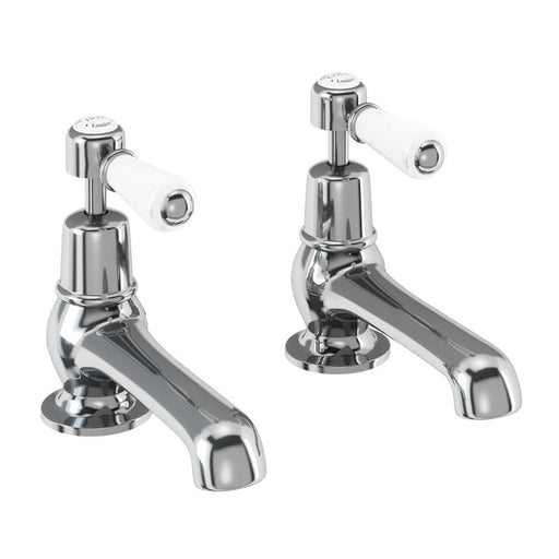 "Burlington Kensington Basin pillar taps with 5"" nose"