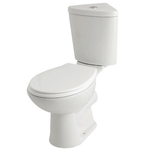 Kartell G4K Corner Toilet - Cistern - Supreme Soft Close Seat - White