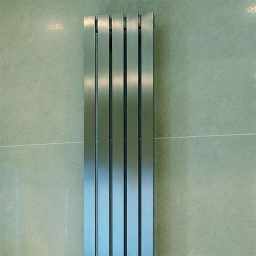 Kartell Idaho Vertical Designer Radiator - Brushed Stainless Stee