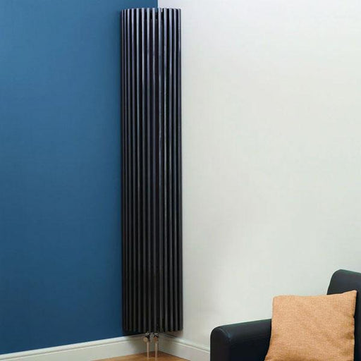Kartell Kansas Corner Designer Radiator - 2000mm High x 276mm Wide - Anthracite