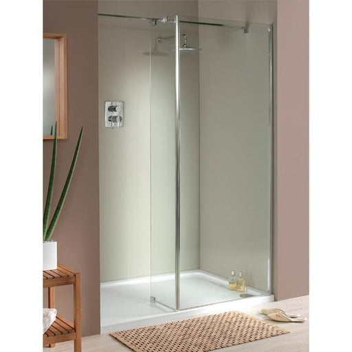 Lakes Italia Mileto Walk-In Shower Enclosure - Silver