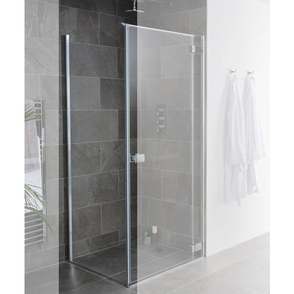 Lakes Island Shower Door Side Panel - Silver