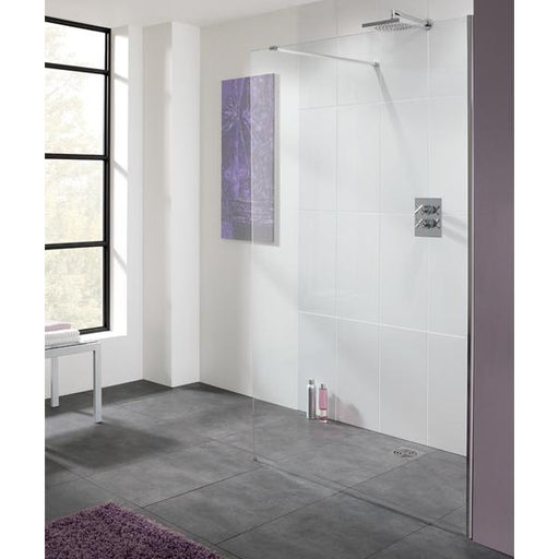 Lakes Coastline Cannes Walk-In Shower Screen - Silver