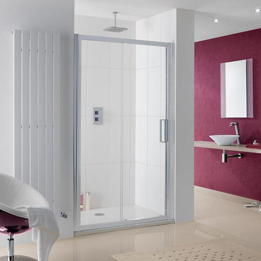 Lakes Coastline Talsi Sliding Shower Door - Silver