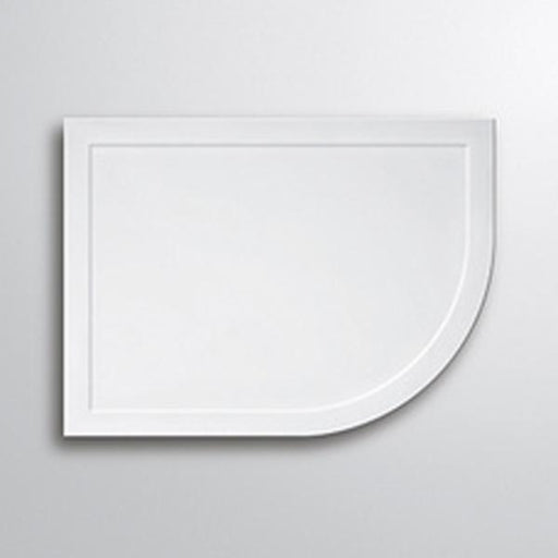 Lakes Low Profile Quadrant Shower Tray - Stone Resin - White