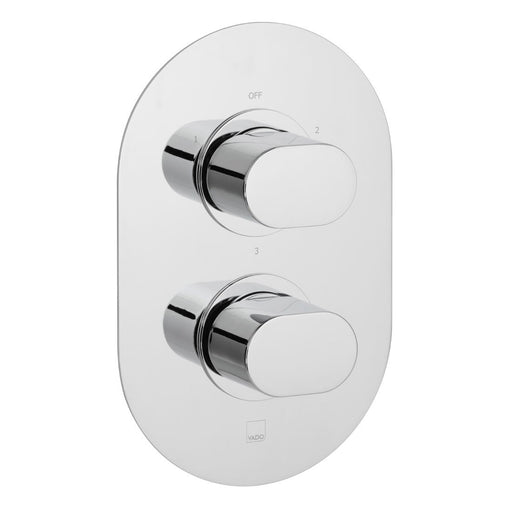 Vado Life 3 Outlet 2 Handle Thermostatic Shower Valve Wall Mounted